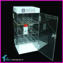 Factory Customize 4-tier E liquid Bottles Display Counter E-cigarette Storage Showcase Acrylic Advertising Display for Cigarette