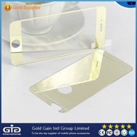 """Gold Mirror Surface Plating Tempered Glass Screen Protector Film for iPhone 6 4.7"""""""