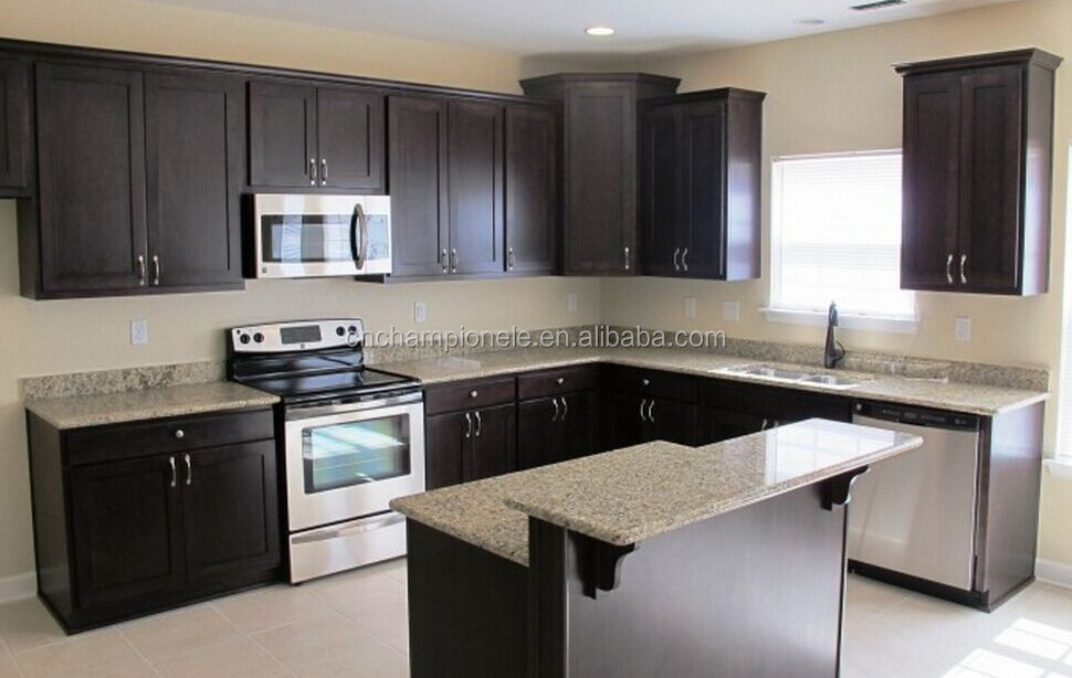 Pre Assembled Solid Wood Kitchen Cabinets Designs Buy