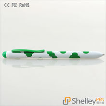 Nice Flower Printed 2 in 1 School Ofiice Gift Stylus Pen with Ballpoint