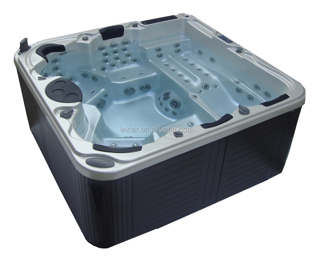 European Style Indoor Outdoor Freestanding 5 People Whirlpool ...