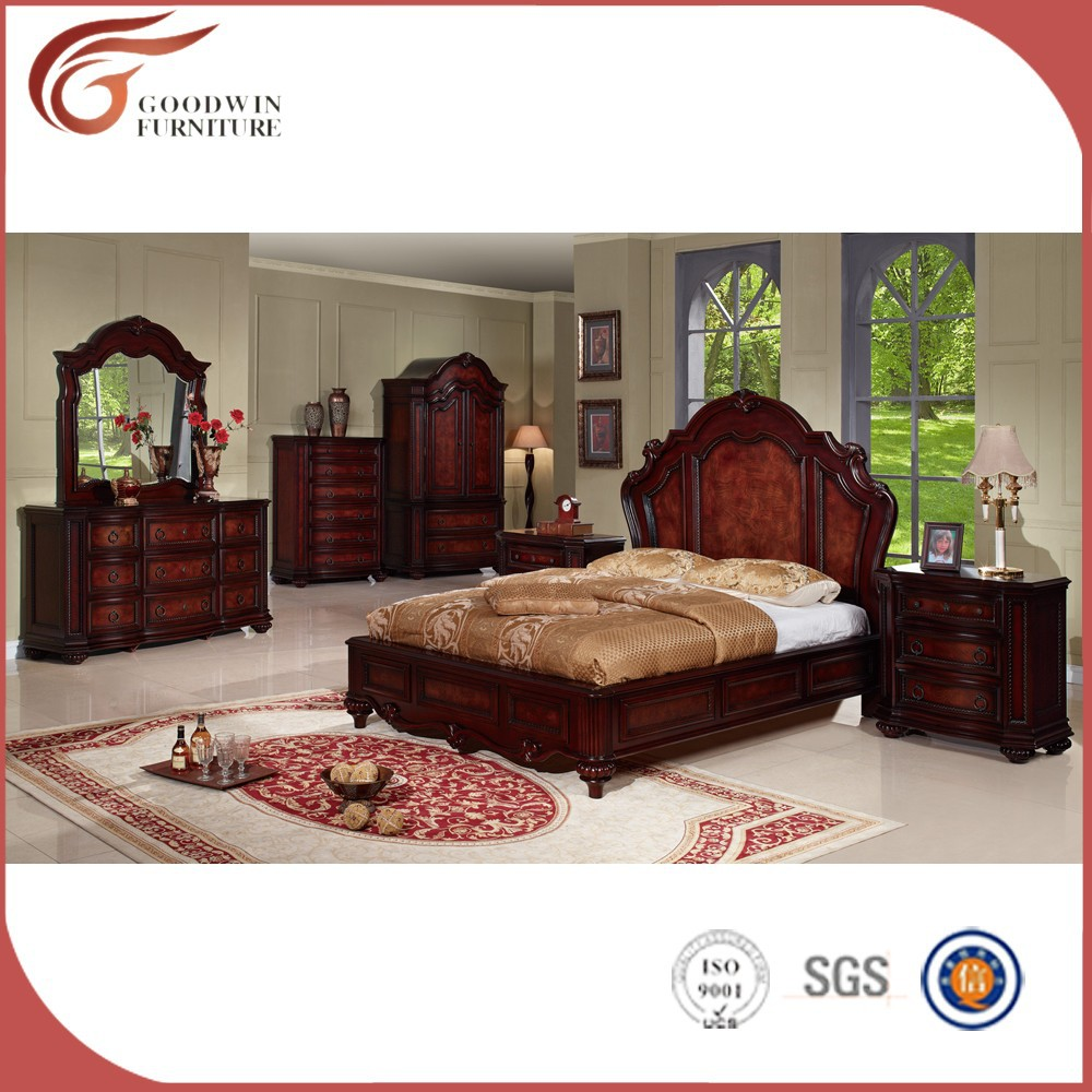wholesale solid wood king size bedroom set wa137