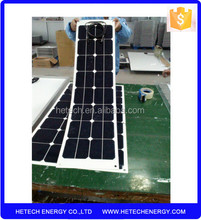 flexible amorphous silicon solar panel 50W with high efficiency cell