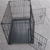 Double Door Folding Metal Dog Crate With ABS Tray