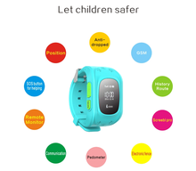 2015 Wholesale kids gps watch phone / LBS gps tracking device for kids with geo-fencing