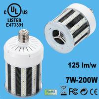 E40 120W Fin Aluminum heatsink and PC cover Dimension 150mm Led corn light