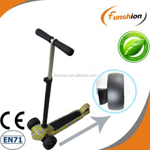 adult fitness 4 wheel scooter/kick pedal scooter with adjustable handlebar
