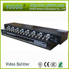 Supply 8 input 16 output audio video splitter