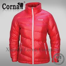 New design red lightweight ladies winter jacket girl down coat