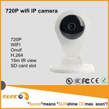 Iphone/Android remote control 720P smart wifi camera for home security