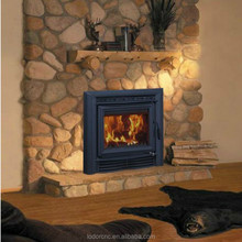 Carbon steel plate is better than cast iron wood burning fireplace