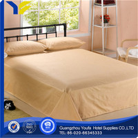 bright color hot sale polyester/cotton white bedding set for all hotel linen size