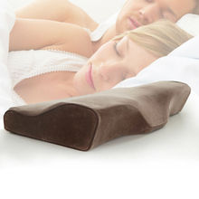 Factory Exporting High Quality Anti snoring Memory Foam Pillow with velvet fabric cover