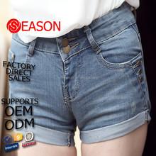 perfect designer mid rise pants leg crimping short jeans for girls(jeans 086)