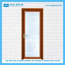 Surface wooden treatment decorative interior swinging door