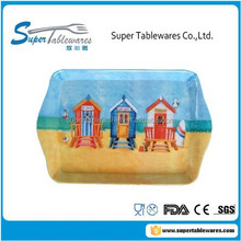 Serving Tray With Handle Made Of Printed Melamine for Holiday
