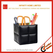 Leather black pen holder for car for business gift