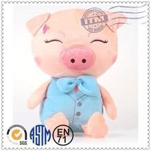 customer design soft stuffed pigs