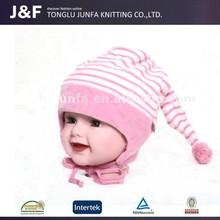 Pretty warm lovely stripe knitted hat,baby boy crochet hat
