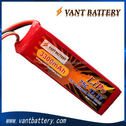 Lithium ion 3S 11.1V li-polymer 3300mAh 75C Lithium Polymer rechargeable rc lipo battery for RC helicopter