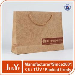 advertising kraft paper bag for garments packaging