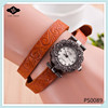 PS0089 Fashion Leather jewelry Double Wrap Unique Engraving Custom leather watch band