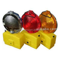 Led road construction flash solar led traffic warning light