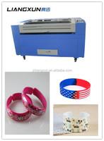NEW LX1390 laser cutting machine to make plastic bracelets