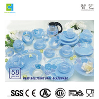 Colored clear glass tempered dinnerware colored glass dinnerware sets