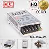 CE alibaba express smps 5v 5a 25w ac dc switching power supply/miniature power supply with ce