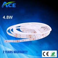 High Lumen Non-waterproof IP20 4.8W 60pcs 3528 Red /Green /Blue /Yellow /White flexible led strip