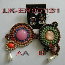 2012 latest animal shaped alloy resin beads earring