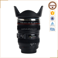Factory Price Custom Logo Caniam 24-105mm Camera Lens Coffee Travel Mug