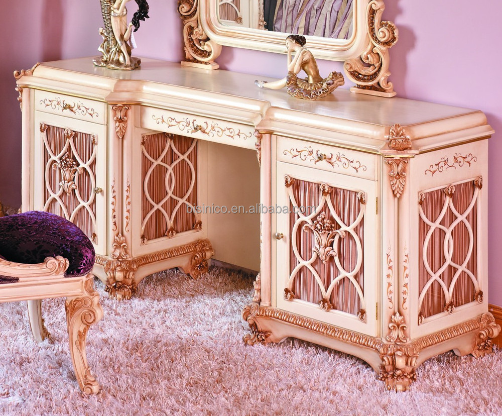 BISINI French Baroque Bedroom Furniture Luxury Exquisite Wooden