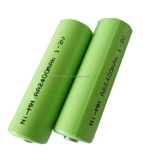 High Discharge Rate 1.2V AA 2400mAh NiMH Rechargeable Flashlight Battery, Electric Toy Battery, ni-mh 3.6 2/3aa 600mah battery