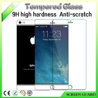 For iphone 6/+ glass screen protector with 9H Anti-shock Anti-scratch tempered glass