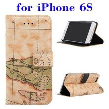 Multifunctional PU Leather design mobile phone back cover for iPhone 6S made in China