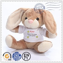 Fashion top quality new design stuffed rabbit toy with dress