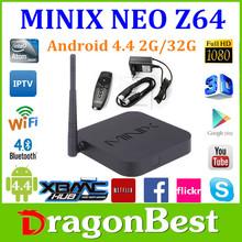 2015 The Best Tv Box MINIX NEO Z64 Series Z64A Android TV Box Intel Atom Processor Z3735F