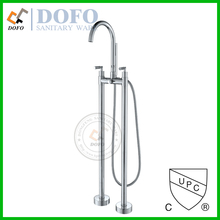 DF-02008 Contemporary Brass Free Standing Tub Filler w/Hand Shower bathtub faucet cUPC