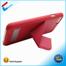 Gold supplier best quality professional mobile phone case for iphone 6 with kick stand, foldable for iphone 6 stand case