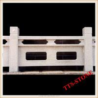 Carved stone bridge balustrade