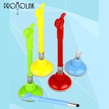 wholesale plastic promotional office bank stationery sucking disc gel ink pen