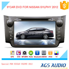 car radio dvd player with gps map download/bluetooth/TV/touch screen for NISSAN SYLPHY 2012