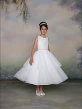 new halter baby gown beaded luxrious flower girls dresses 2012