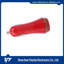 Bullet dual 2-port mini usb car charger adaptor