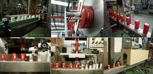 thermo cup labeling machine