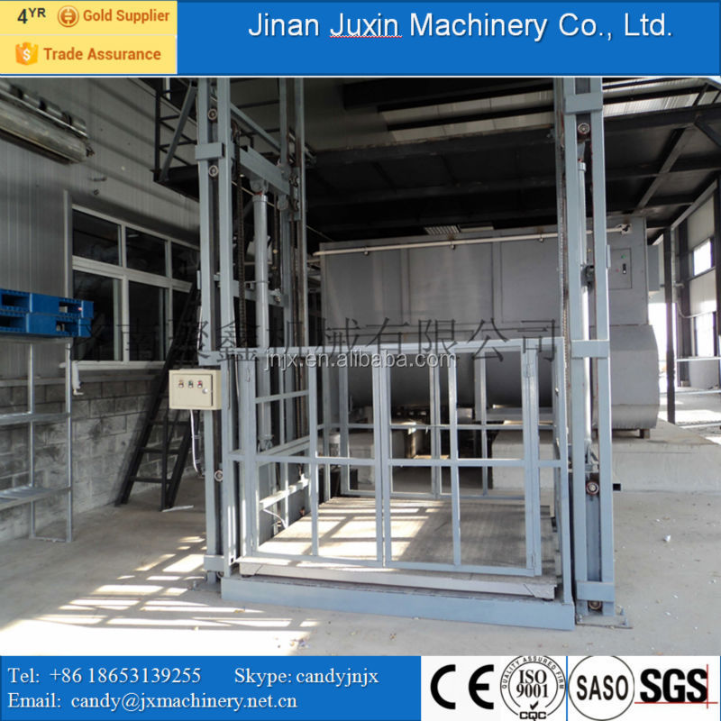 Hydraulic Material Lift : Heavy load floor lift indoor used hydraulic material