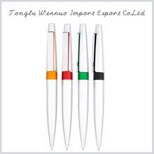 Wholesale high quality white plastic pen
