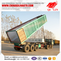 2015 Cheap Price Tri-axle Semi Dump Trailer , aluminium tipping trailer for sale